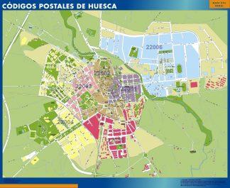 Huesca códigos postales enmarcado plastificado