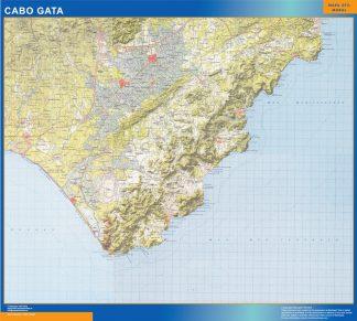 Mapa Cabo Gata enmarcado plastificado