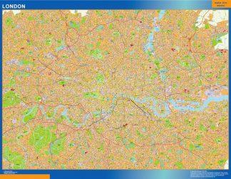 Mapa Londres enmarcado plastificado