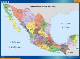 Mapa Mexico Politico enmarcado plastificado