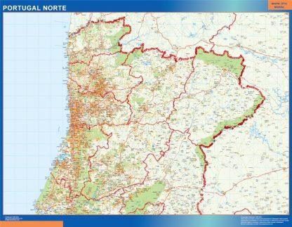 Mapa Portugal Norte Carreteras Mapas De Pared