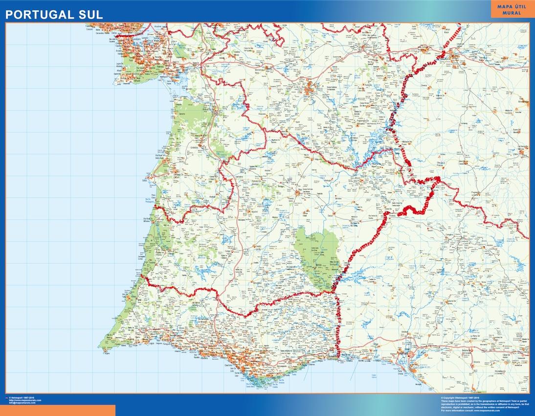 Mapa Portugal Sur Carreteras Mapas De Pared