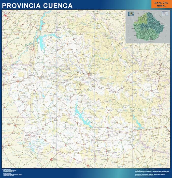 Mapa Provincia De Cuenca España.Mapa Provincia Cuenca