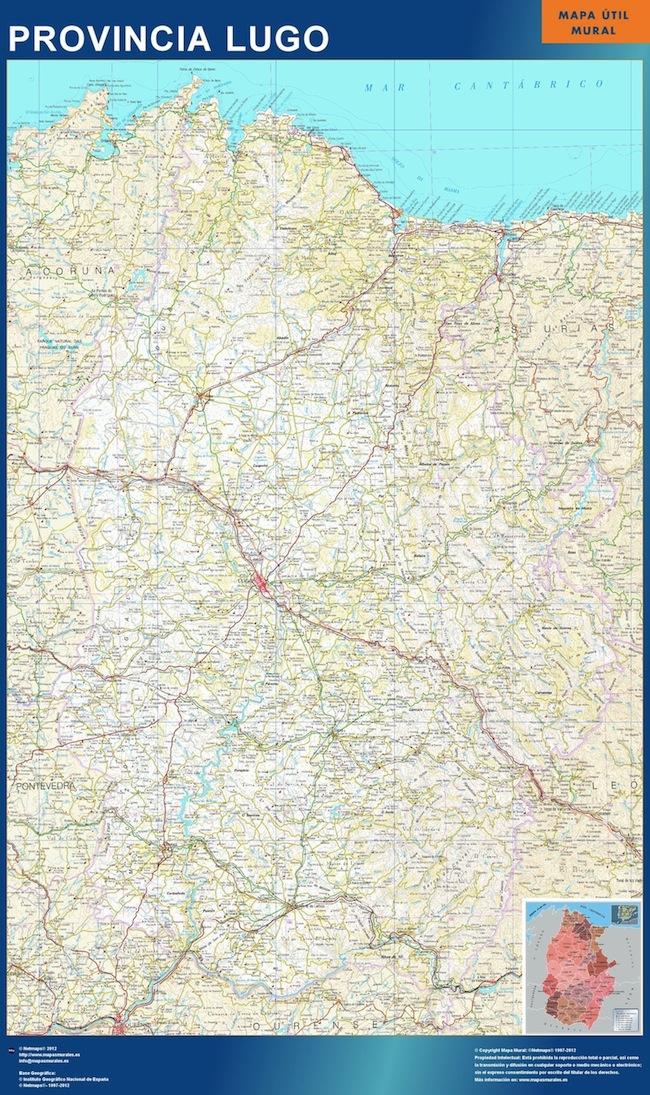Mapa Provincia Lugo Mapas De Pared
