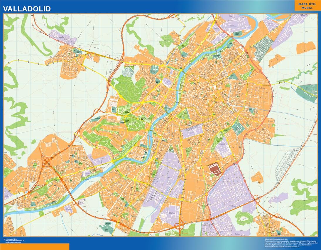 Callejero Mapa De Santiago De Compostela.Mapa Valladolid Callejero Enmarcado Plastificado