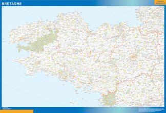 Region Bretagne enmarcado plastificado