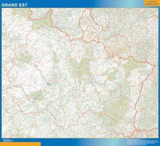 Region Grand Est enmarcado plastificado