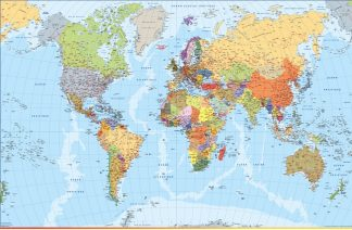 Mapamundi en frances actualizado